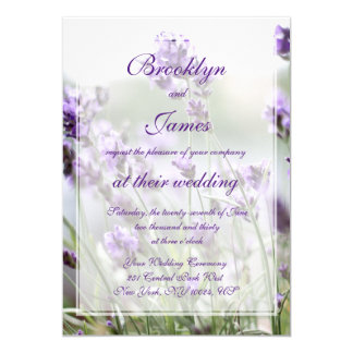 Custom Lavender Bohemian Wedding Invitations