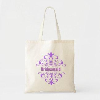Custom Lavender Bridesmaid Wedding Tote Bag