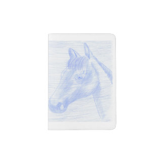 Custom layer for passport horse drawing passport holder