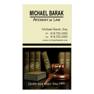 Custom Legal3 Law Offices of Atty Michael Barak Business Card Template
