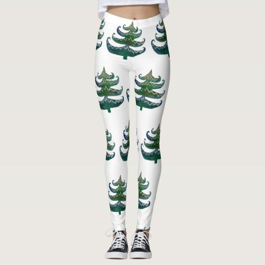 Custom Leggings Christmas Trees