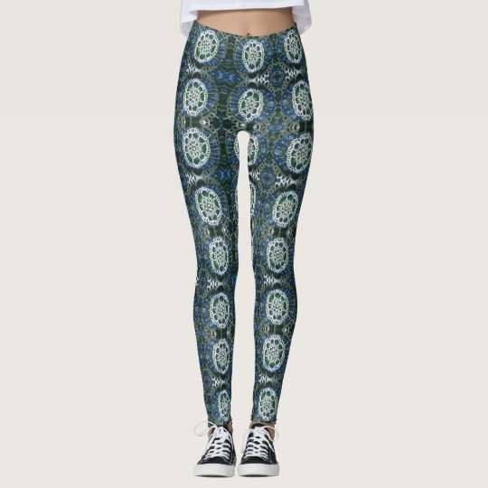 Custom Leggings White mandala Expression