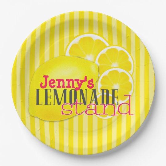 Custom Lemons for Lemonade Paper Plates