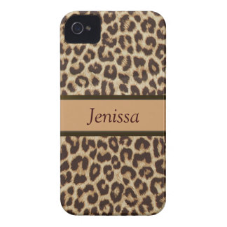 Custom Leopard Print iPhone 4/4S Case Mate Case