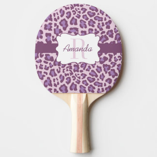 Custom Leopard Purple Lavender Ping Pong Paddle