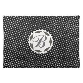 Custom Letter B Retro Cute Vintage Polka Dot Placemats