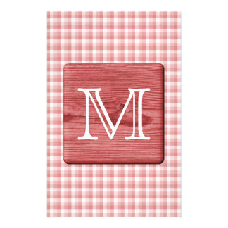 Custom Letter Picture of Wood and Check Pattern Flyer Design