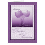 Custom Life Partner Birthday Purple Tulips Greeting Card