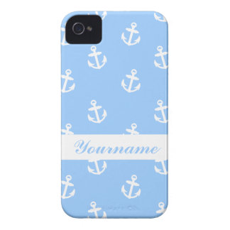 Custom Light Blue Anchor iPhone 4 Covers