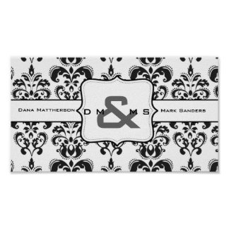 Custom Light Damask Poster