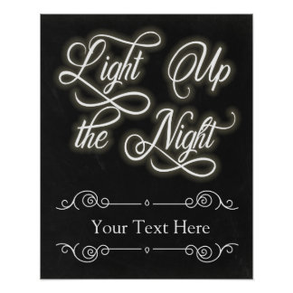 Custom Light Up the Night Sign - Add Your Own Text