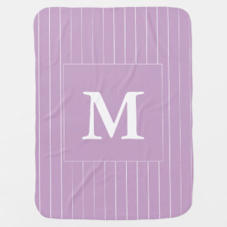 Custom Lilac Monogram Baby Blanket