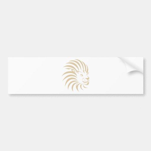 Custom Lion Swish Logo Bumper Sticker