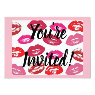 CUSTOM Lipsense Party invitation + envelopes