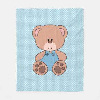 Custom Little Boy Bear Fleece Blanket