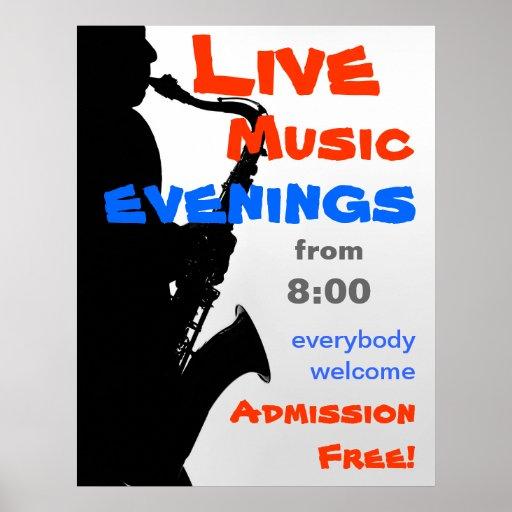 Custom live music poster zazzle for Zazzle custom t shirts