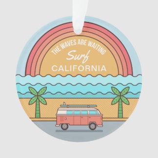 Custom Location Surfer ornament
