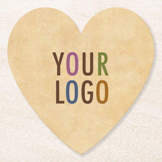 Custom Logo Branded Antique Vintage Style Heart Paper