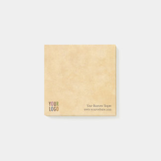 Custom Logo Branded Antique Vintage Style Square Post-it Notes
