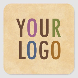 Custom Logo Branded Antique Vintage Style Square Sticker