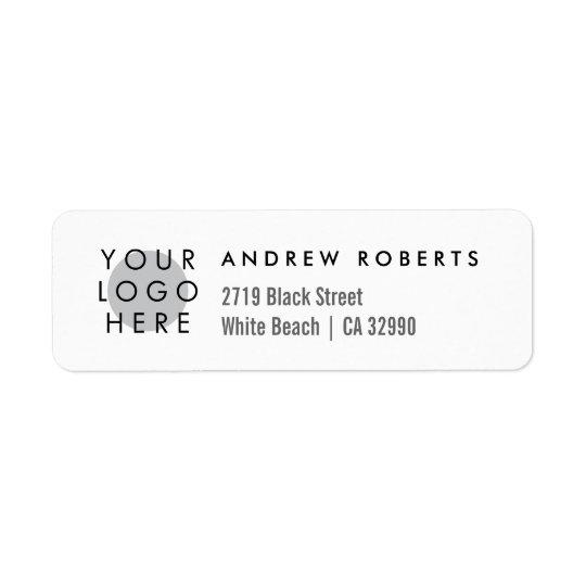 Custom Logo Minimalistic Return Address Labels