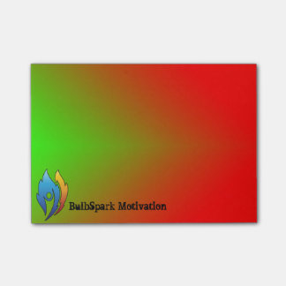 Custom Logo & Name Green To Red Post-it Notes