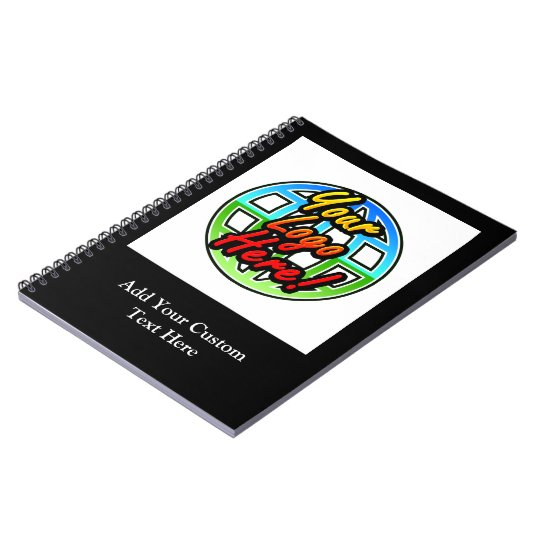 Custom Logo or Photo Personalised Spiral Notebook
