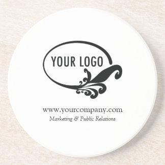 Custom Logo Sandstone Coaster Office Gift