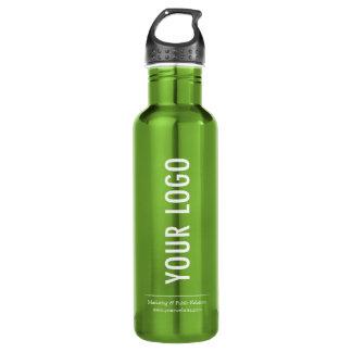 Custom Logo Water Botttle with Handle Green 24 oz 710 Ml Water Bottle
