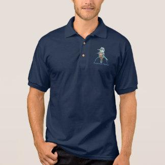 Custom logo, Watercolor Kingfisher Bird Business Polo T-shirt
