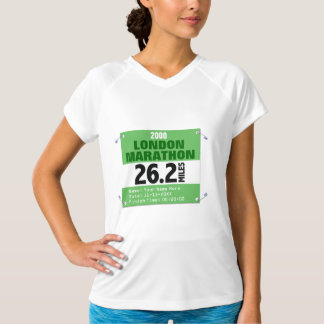 Custom London Marathon Race Number, 26.2 Miles T-Shirt