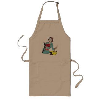 Custom Long Apron, Cookbook for the Clueless Long Apron