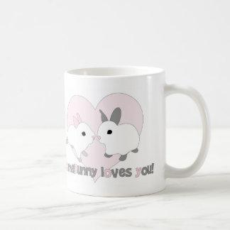 Custom love mug Valentine's Day Heart pink Rabbit
