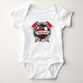 Custom Love My Firefighter Baby Bodysuit