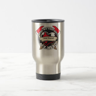 Custom Love My Firefighter Travel Mug