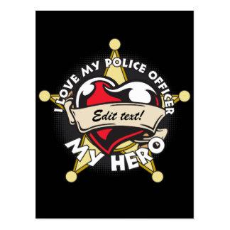 Custom Love My Police Officer Postcard