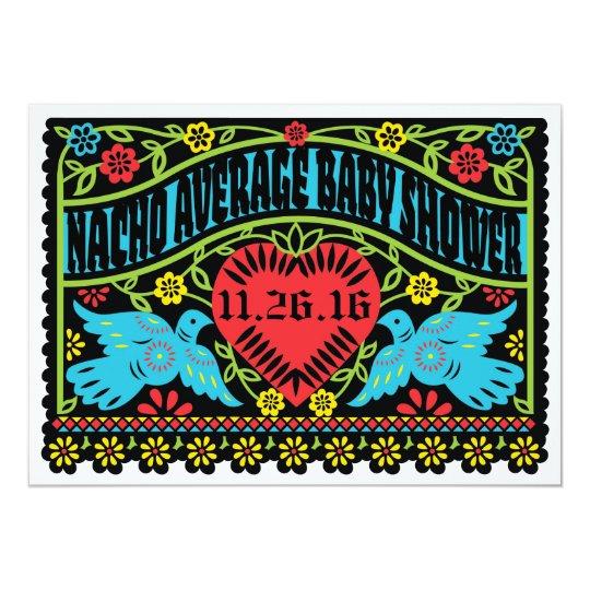 Custom Lovebirds Papel Picado Banner Card
