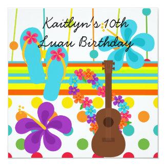 Custom Luau Birthday Invitation