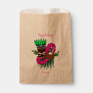 Custom Luau Birthday Party Favour Bags