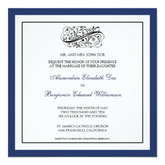 ::custom_luba:: Simply Elegant Wedding Invitation