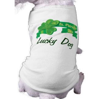 Custom Lucky Dog Sleeveless Dog Shirt