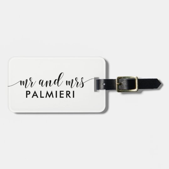 Custom Luggage Tag - MR and MRS