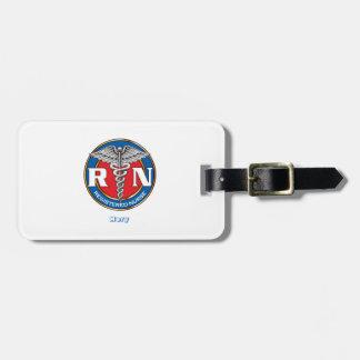 Custom Luggage Tag w/ leather strap