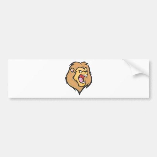 Custom Mad Lion Cartoon Bumper Sticker