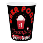 Custom Made for Your Beer Pong Event! Paper Cup