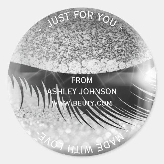 Custom Made Glam Diamond Eye Silver Gray Glitter