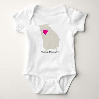 Custom Made In Georgia State Love Baby Tee