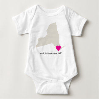 Custom Made In Manhattan, New York State Love Baby Bodysuit