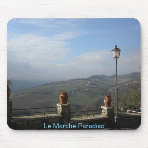 """Custom made mouse pad: """"Le Marche Paradiso."""""""