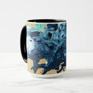 custom made mug with abstract artwork